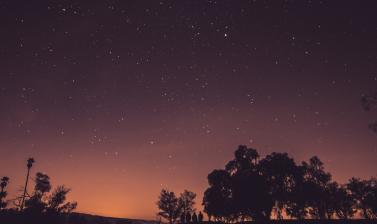 sky sunset night space